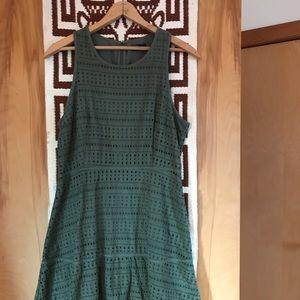GAP Green Eyelet Dress